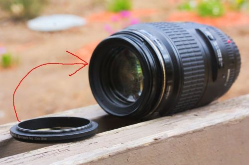 Attach adapter to lens